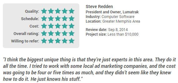 Naming customer review and endorsement
