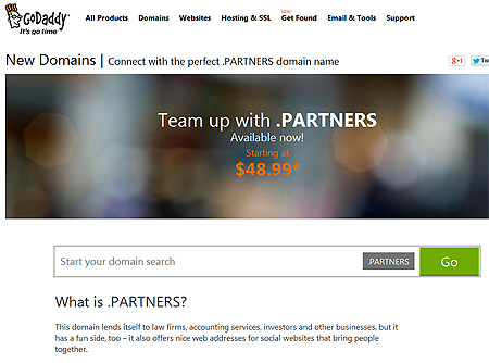 New .partners domain name, creative naming guru help