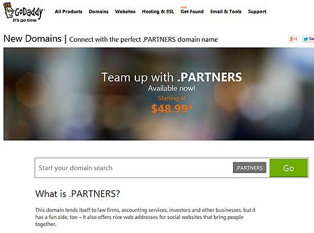 New .partners domain name, creative naming guru help
